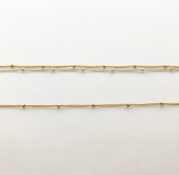Grace Necklace - Double Strand Chain Option