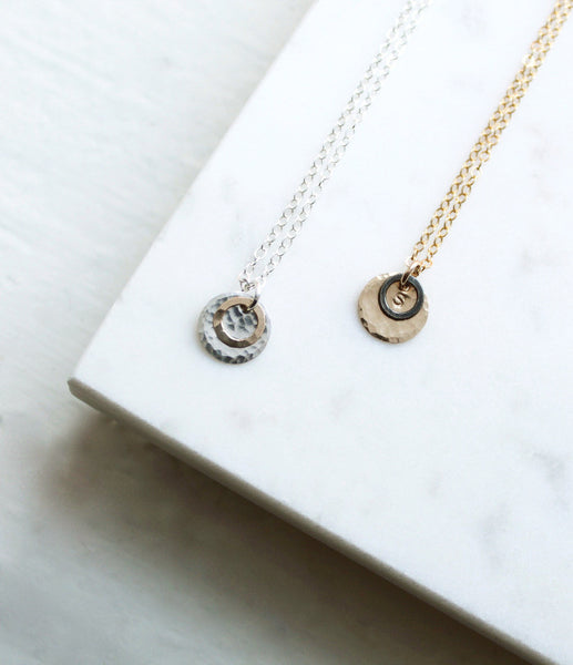 Circle Pendant Necklace - Halos Collection