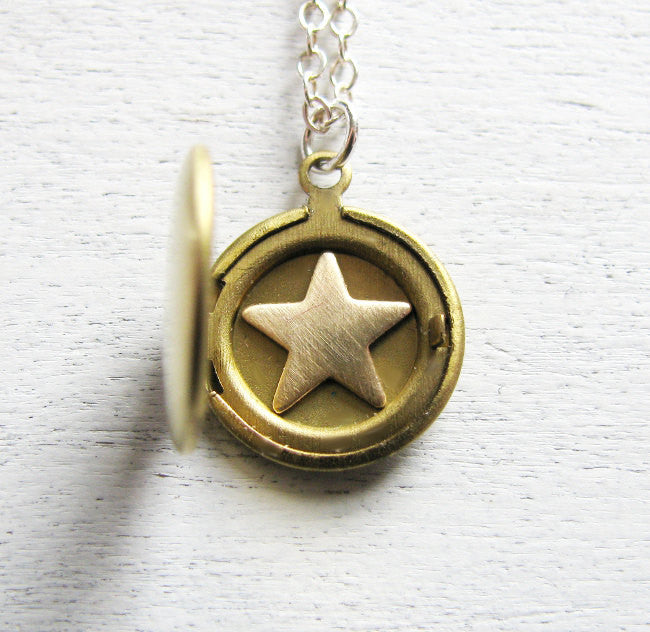 celestial jewelry star locket galaxy jewelry