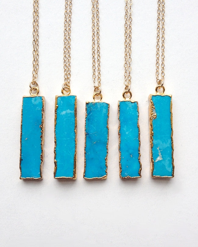 simple southwestern jewelry with turquoise pendant