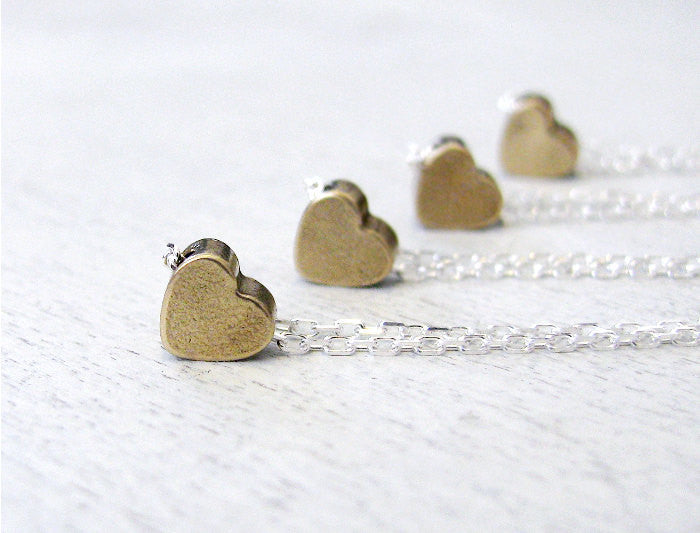 Tiny Vintage Heart Necklace
