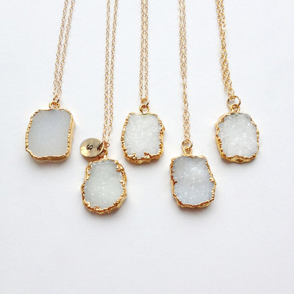 Raw Stone Jewelry in Gold