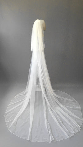 SAMPLE VEIL - Custom long length 2 tier Denver veil
