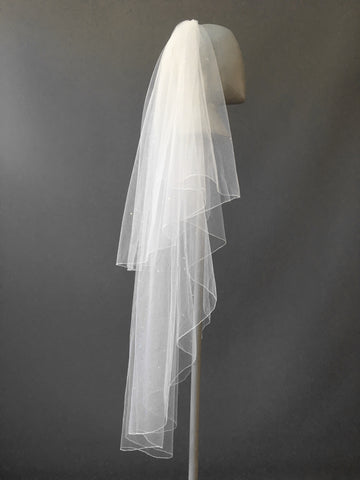 SAMPLE VEIL - Fingertip length 2 tier Denver veil