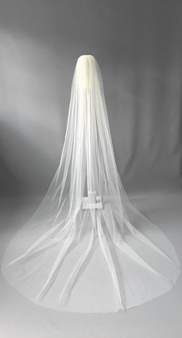 SAMPLE VEIL - Chapel length 1 tier Genoa veil