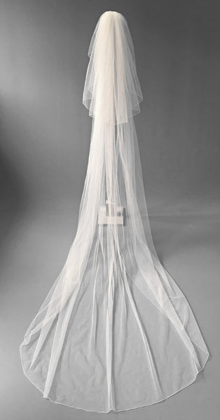 SAMPLE VEIL - Chapel length 2 tier Katarini veil