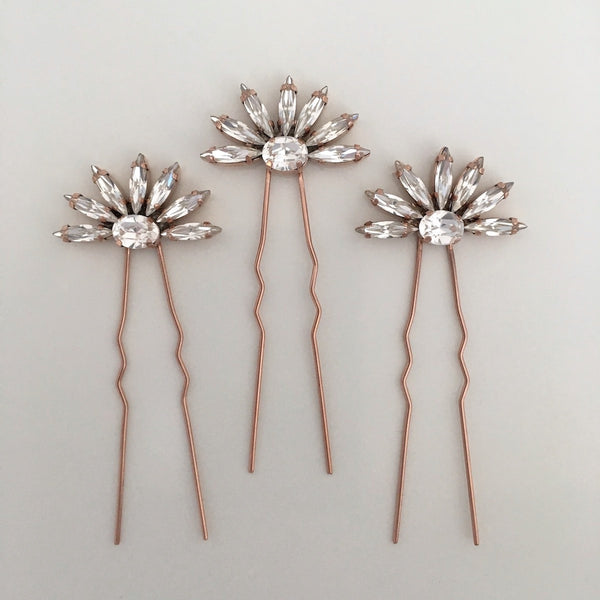 Kelly Spence Asti hairpins in rose gold