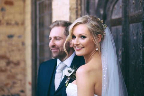 Louise, Berkshire - bespoke veil and earrings