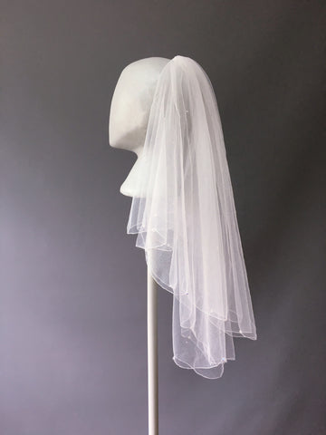 SAMPLE VEIL - Waist length 2 tier Zanzibar veil