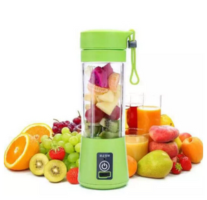 Casa e Utilidades - Mini Liquidificador Mixer Juice Cup Portatil 320ml USB 6 Lâminas - Juicer