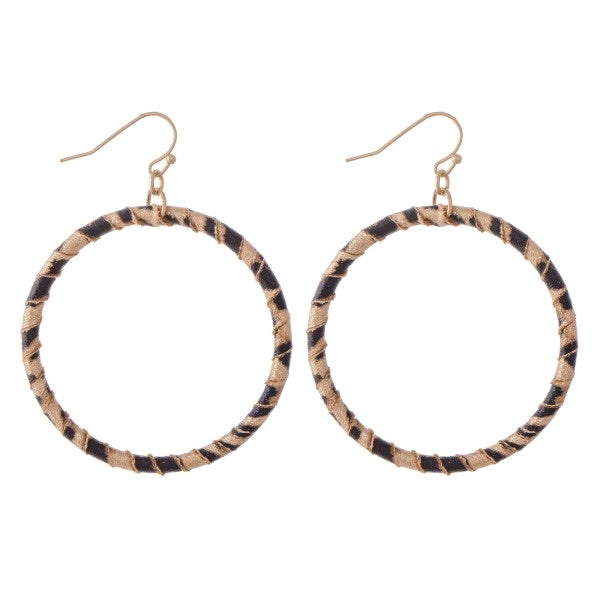 Leopard Shiny Hoop Earrings
