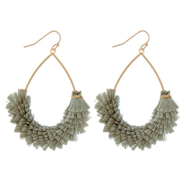 Olive Statement Earrings