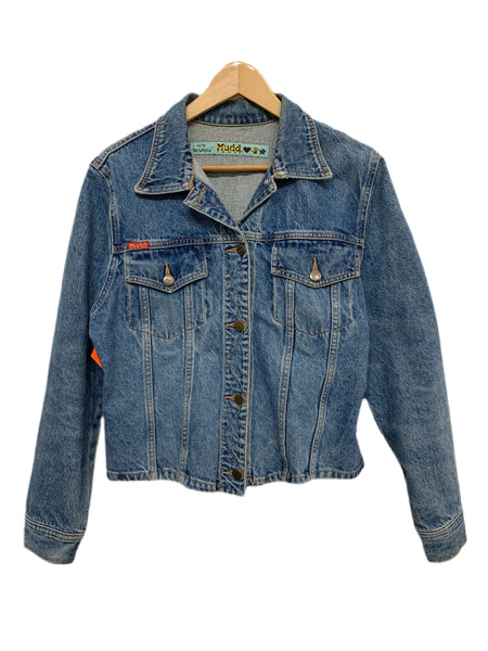 90s Mudd Lightwash Denim Jacket - size W's medium