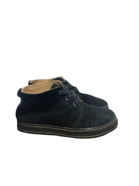 80s Bass Black Suede Chukka Boots - size W's 8