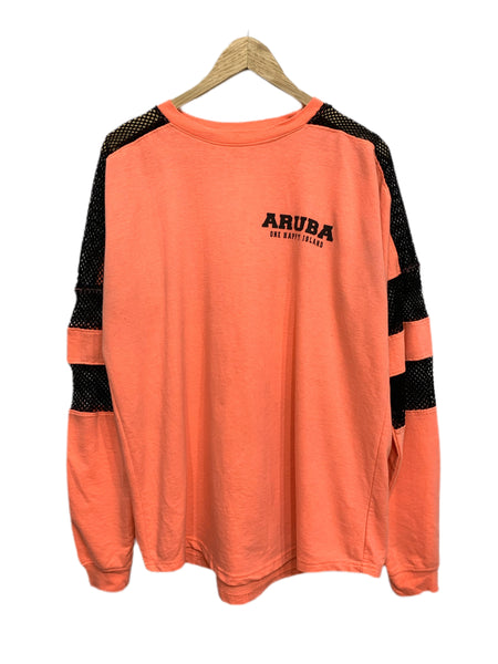 "90s Liquid Energy ""Aruba"" Neon/Mesh Top - size M's XL"