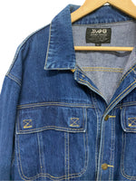 80s Avant Garde Denim Jacket - size M's Large