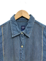 90s Gap Embroidered Chambray Button-Down - size W's XL
