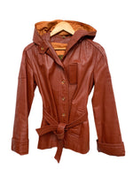 70s Learsi Hooded Leather Jacket - size W's 8