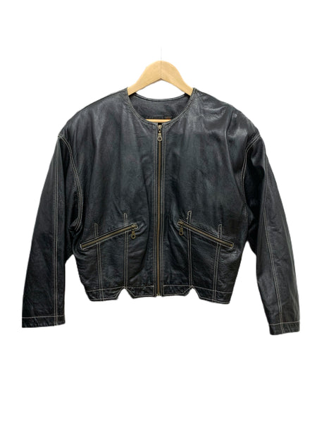 80s Ellen Tracy Cropped Leather Jacket - size W's small
