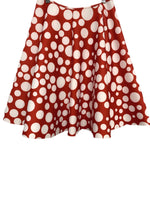 80s Rainbow Polkadot Neoprene Circle Skirt - size W's XL