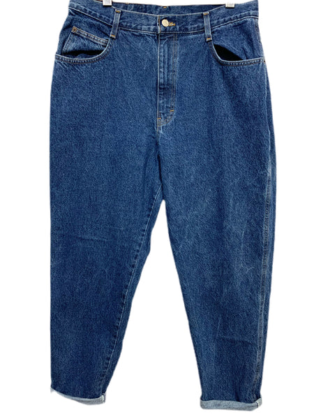 80s Gitano High-Waisted, Tapered Jeans - size W's 16