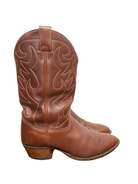90s Rust Leather Cowboy Boots - size M's 9.5W