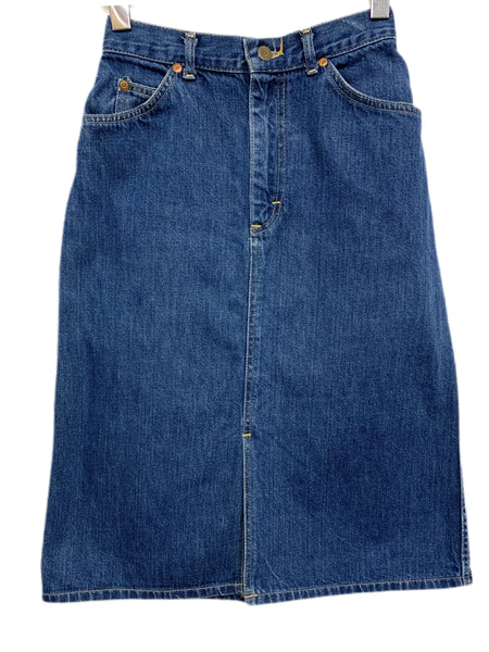 "80s Lee A-Line Denim Skirt - size 25"" waist"