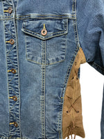 90s Volt Denim Jacket W/ lacing - size W's small