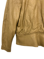 80s Glen Paine by Baiton Tan Leather Jacket. Size W's large.