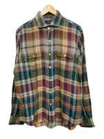 00s Polo by RL Plaid Linen Button-Down - size M's Large