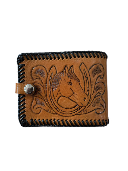 80s Tooled Leather Wallet