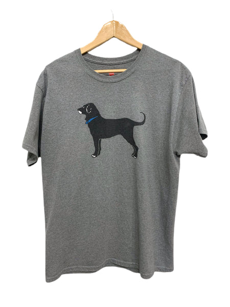 00s Black Dog Printed Hanes T - size large.
