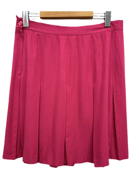 "80s Jon-Michel Pink Pleated Skirt - size 29"" waist"