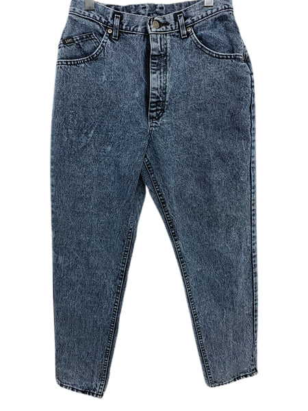 80s Lee Acid-Wash High-Waisted Jeans. Size W's 15 Medium