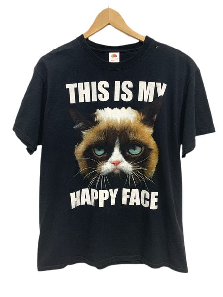 00s Grumpy Cat printed Fruit of the Loom T - size large.