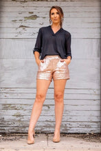 Load image into Gallery viewer, Feeling So Fab Sequin Shorts