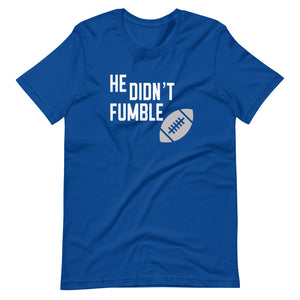Didn't Fumble Tee (White/Gray)