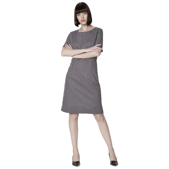 Double TWO Charcoal Dot Ladies Dress