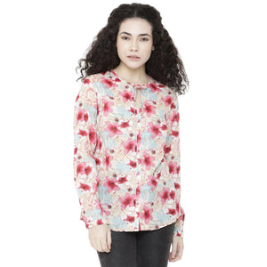 Double TWO Women Rose Floral Print Top - Doubletwoindia