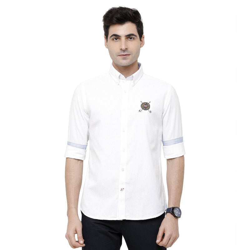 Casual Eco-Friendly White Shirt - Doubletwoindia