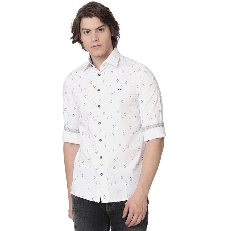 Casual White Penguin Printed Shirt - Doubletwoindia