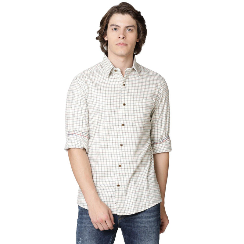 Casual Brown Tattersall Check Shirt - Doubletwoindia