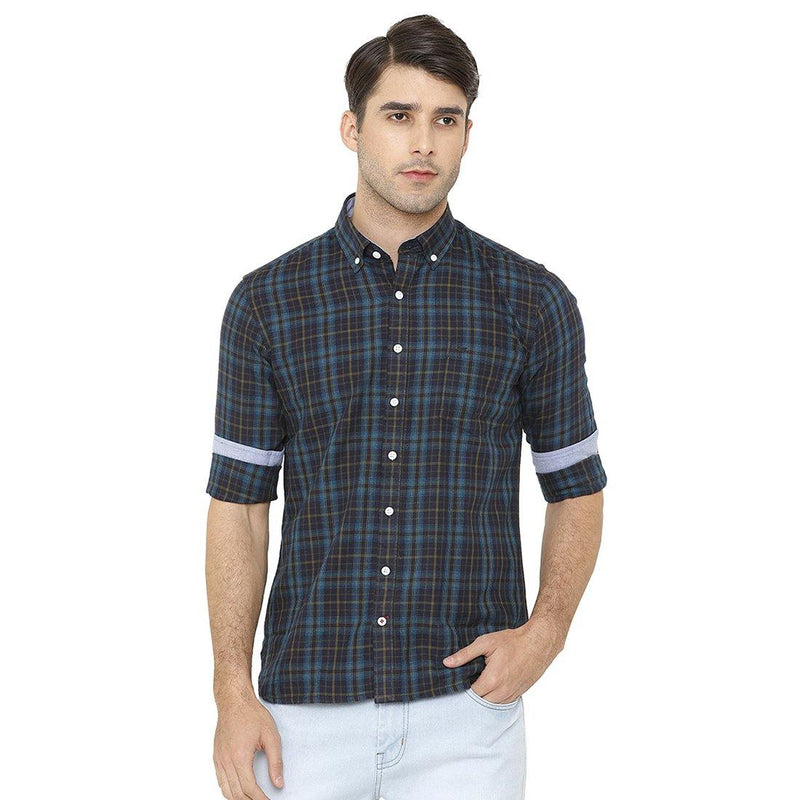 Casual Multicolored Checked Shirt - Doubletwoindia
