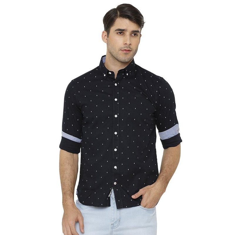 Casual Blue Printed Shirt - Doubletwoindia