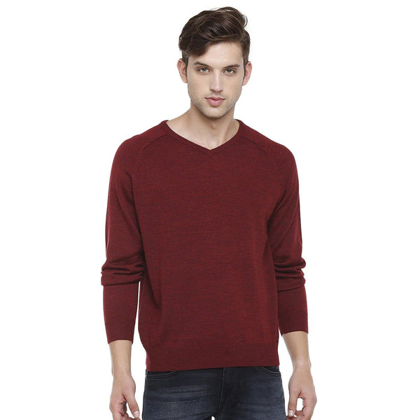 Double Two Wool Blend Red Sweater