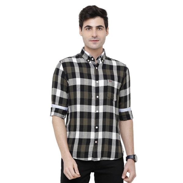 Casual Multicolored Flannel Checked Shirt