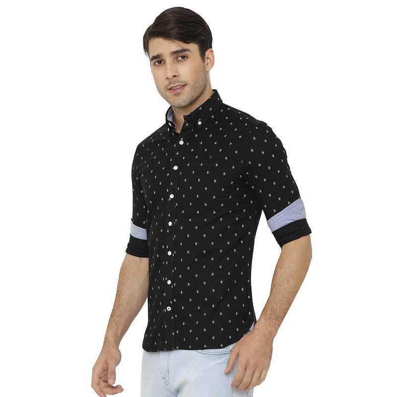 Casual Black Printed Shirt - Doubletwoindia