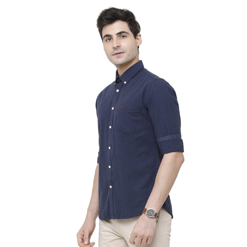 Casual Eco-Friendly Blue Shirt - Doubletwoindia