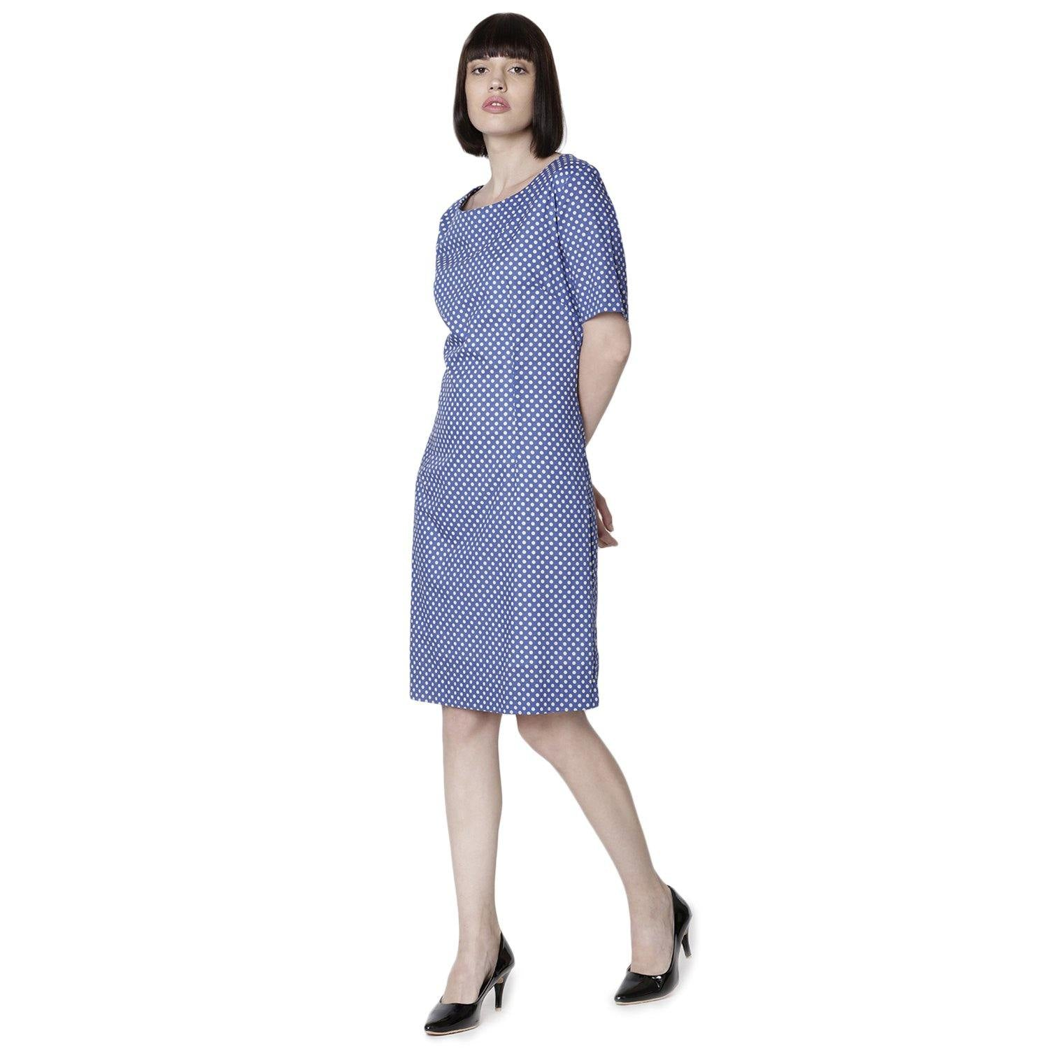 Double TWO Blue Dot Ladies Dress