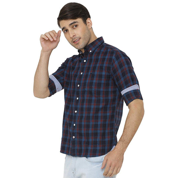 Casual Multicolored Checked Shirt